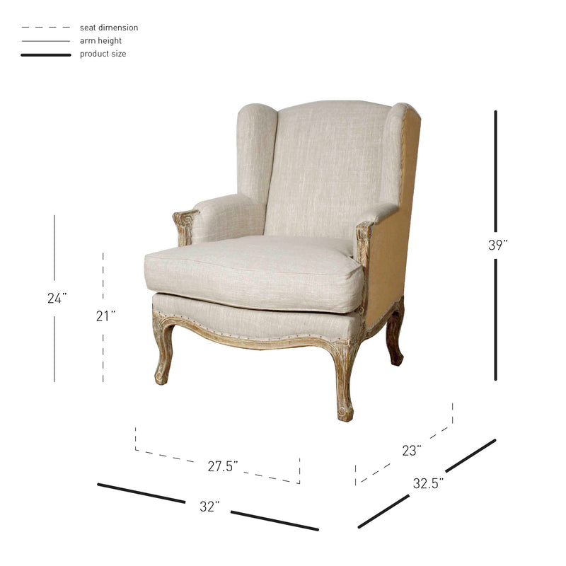 Marie Wing Accent Arm Chair - What A Room