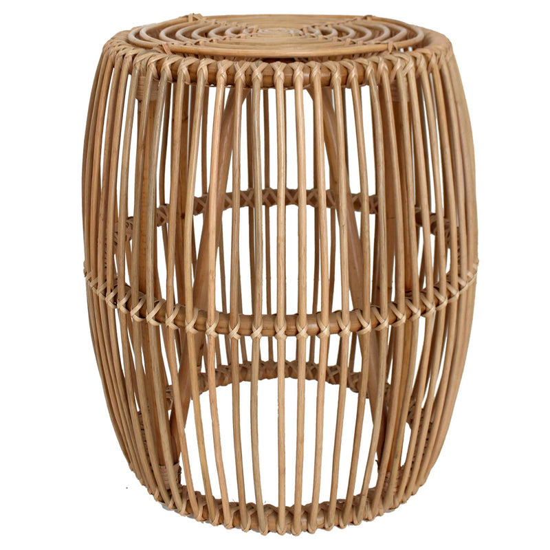 Iris Rattan End Table