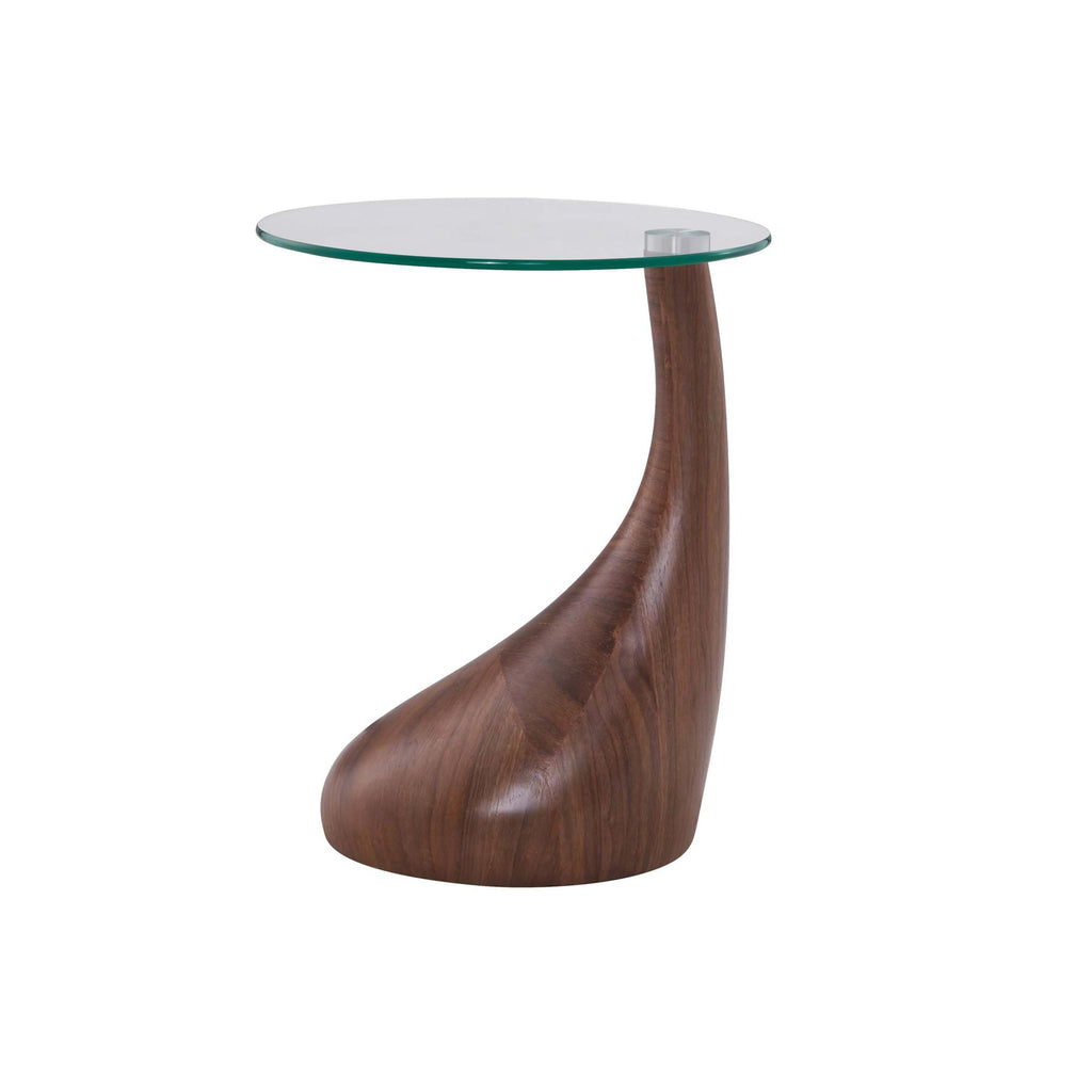 Florian KD End Table Glass Top