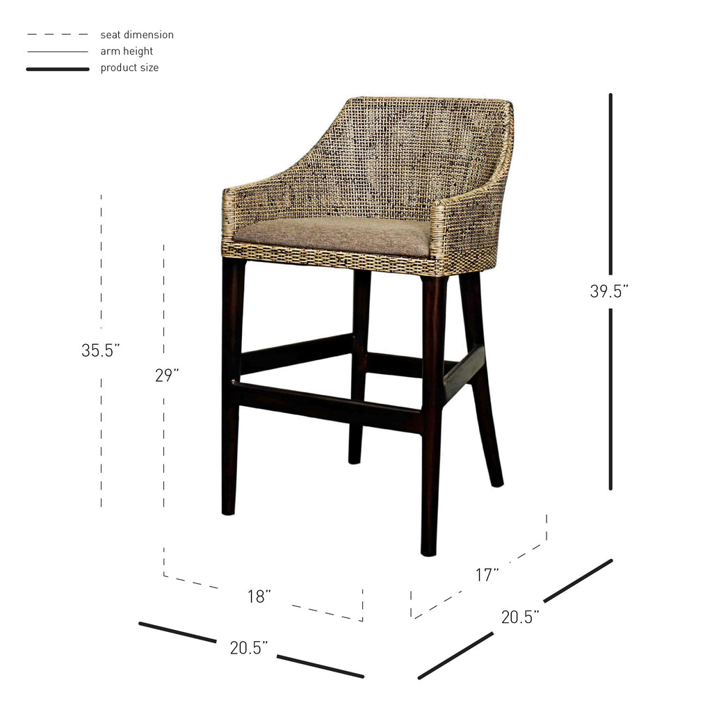 Orlanda Bar Stool - What A Room Furniture