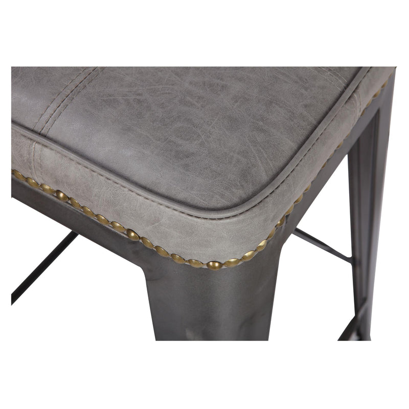 Metropolis PU Metal Backless Counter Stool - What A Room Furniture