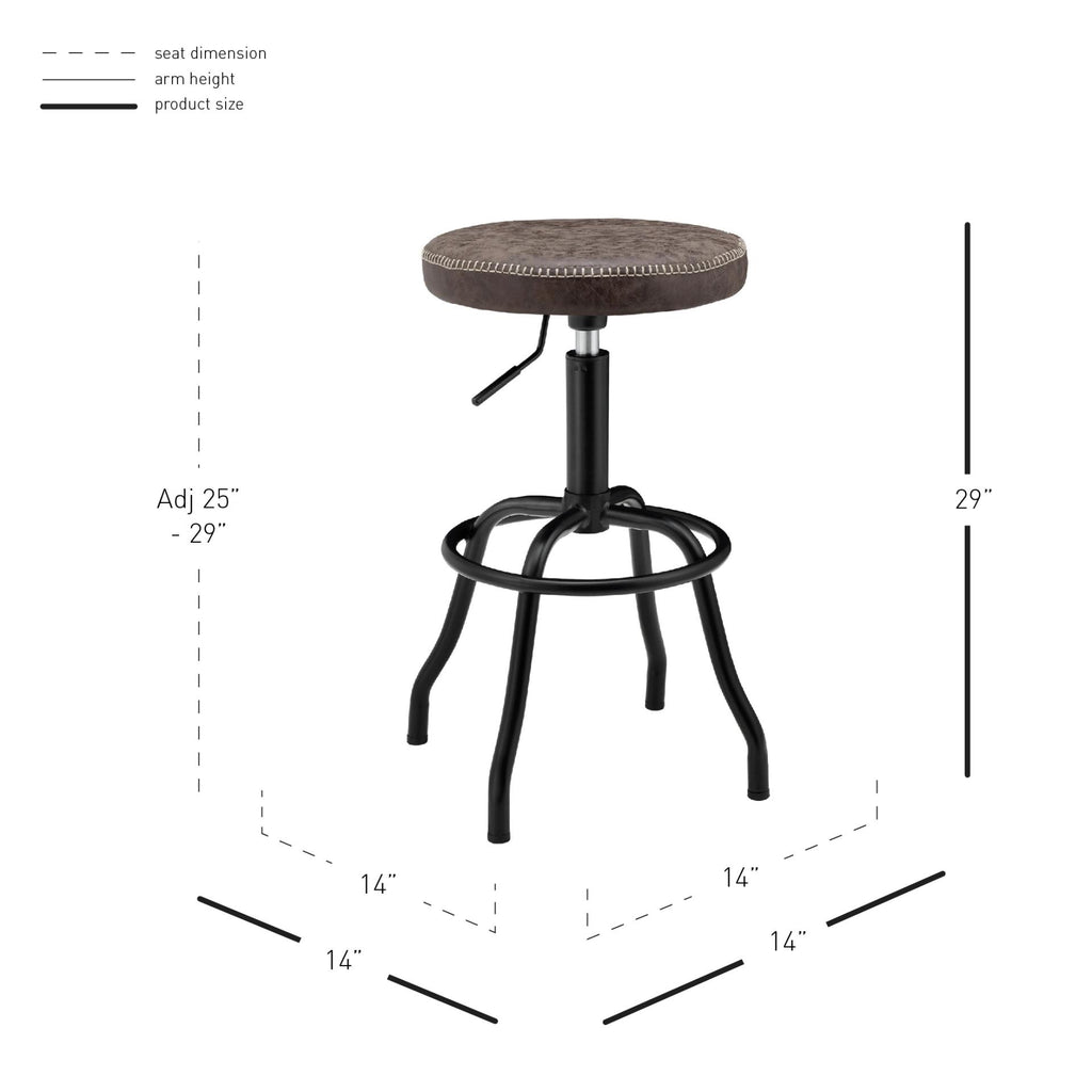 Eaton Gaslift Bar Stool - What A Room Furniture