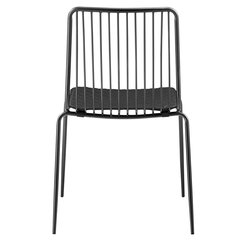 Thomas Metal Chair Black Cushion - What A Room Furniture