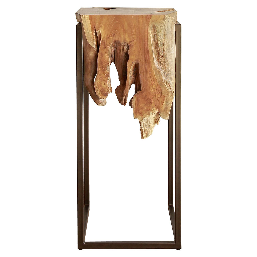 Jansen Reclaimed Teak Root High Side Table - What A Room Furniture