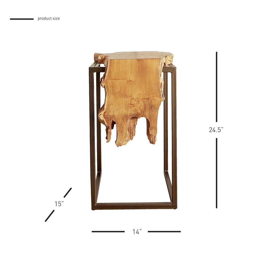 Jansen Reclaimed Teak Root  Side Table - What A Room Furniture