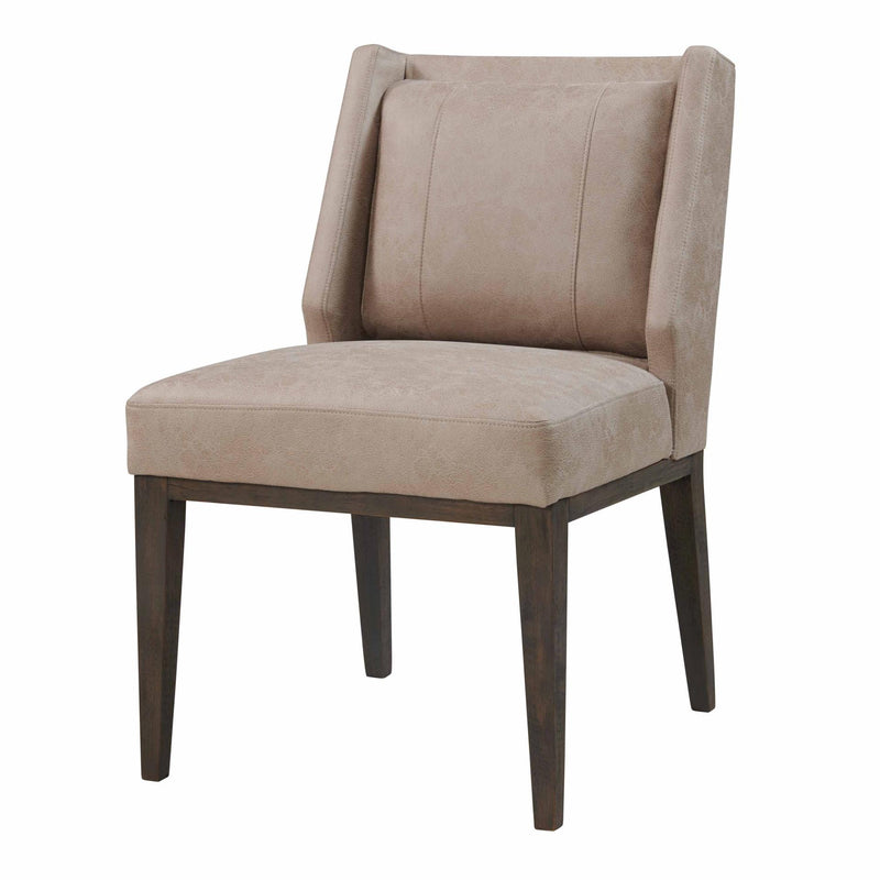 Perry KD Fabric Chair Walnut Legs