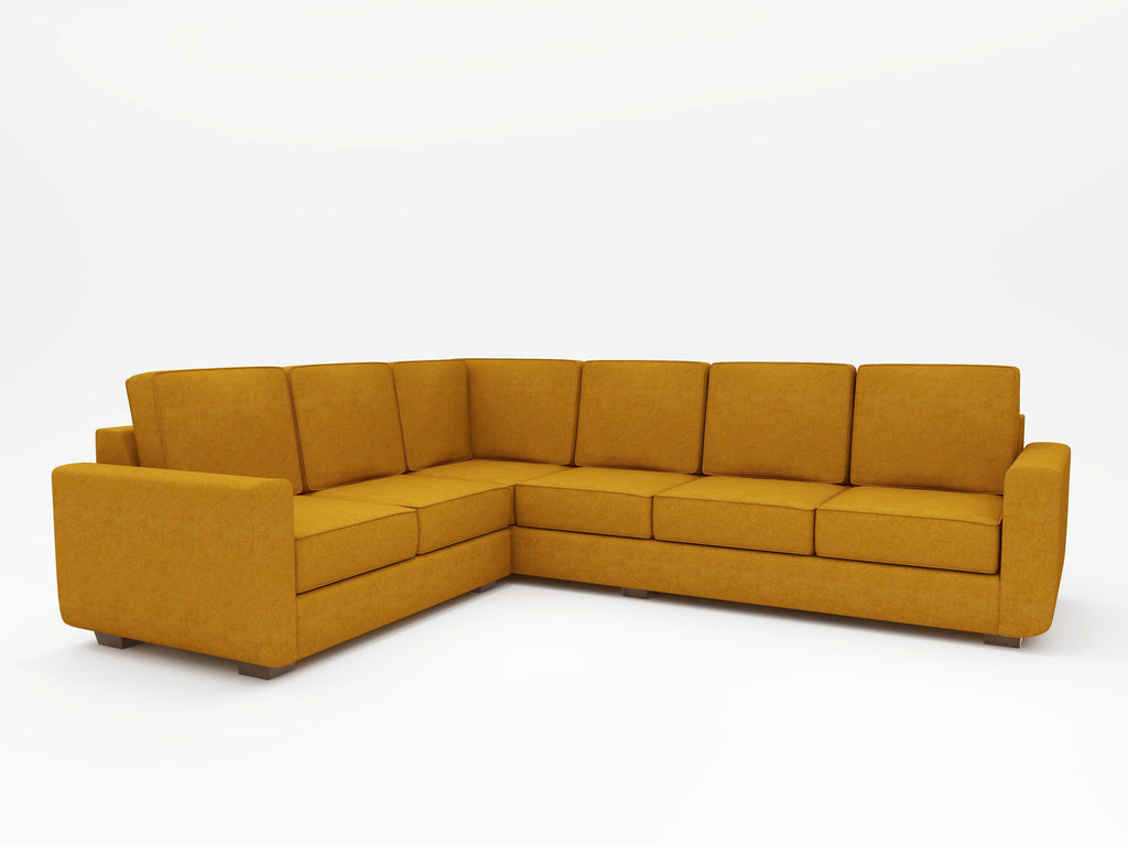 Angela Square Arm Upholstered L Sectional - What A Room Furniture
