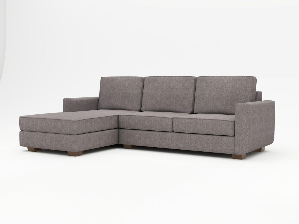 Angela Square Arm Upholstered Sofa Chaise - What A Room Furniture