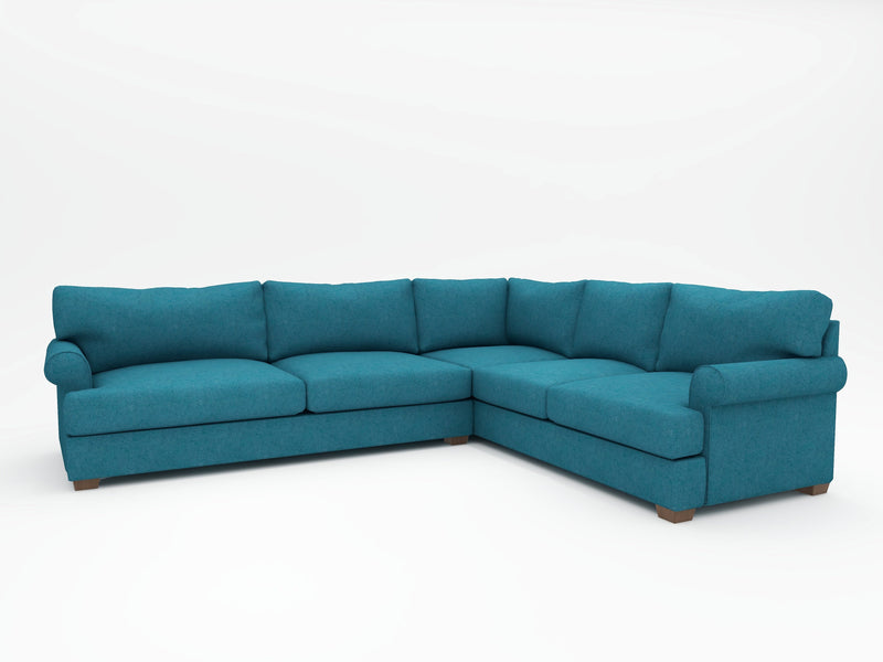 Biscanye Round Arm Upholstered L Sectional - What A Room Furniture