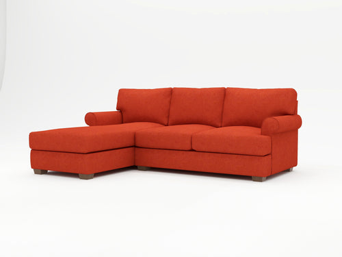 Harmony Custom Sofa Chaise Upholstered - What A Room