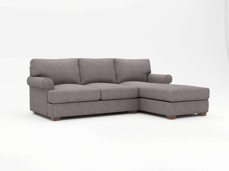Biscanye Round Arm Upholstered Sofa Chaise - What A Room Furniture