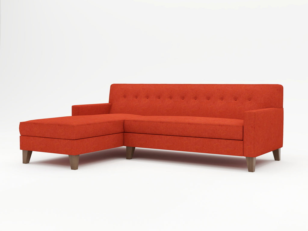 Mid-Century and Contemporary Chaise Sofa