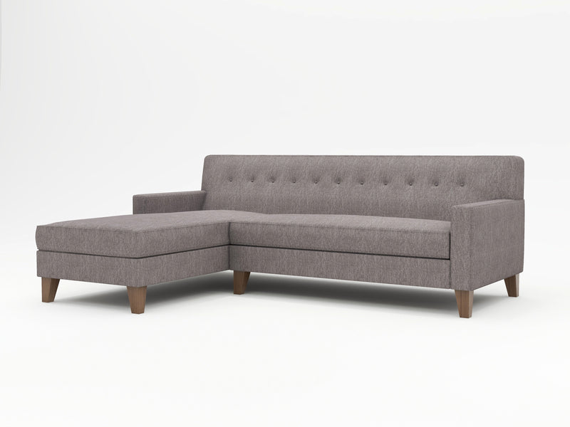 Dante Tight Back Upholstered Sofa Chaise