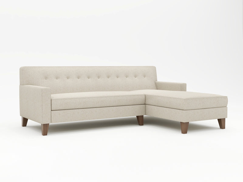 Dante Tight Back Upholstered Sofa Chaise - What A Room Furniture