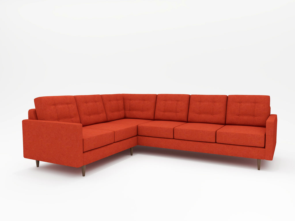 Jasper Square Arm Upholstered L Sectional - What A Room Furniture