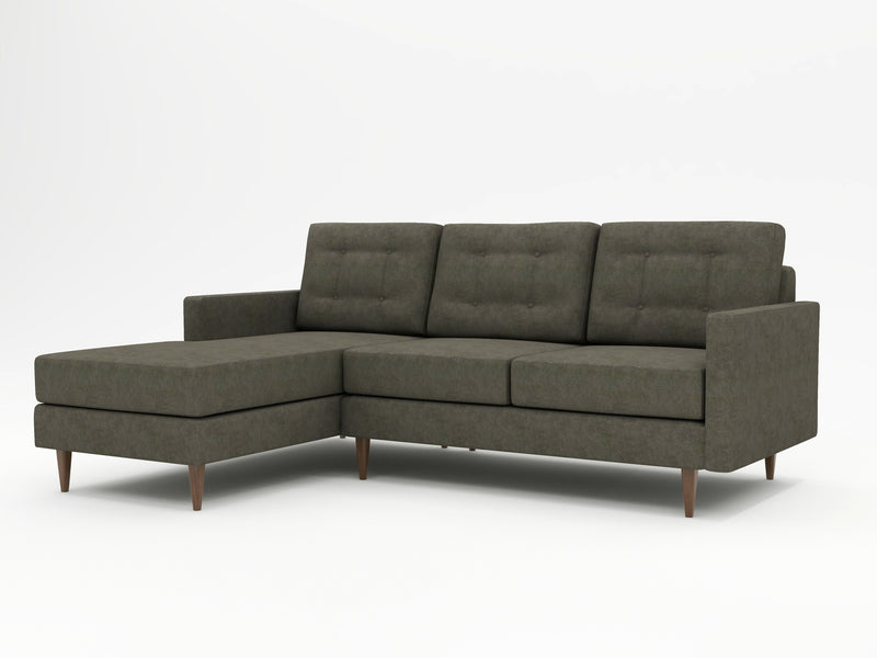 A simple, modular looking chaise with sofa