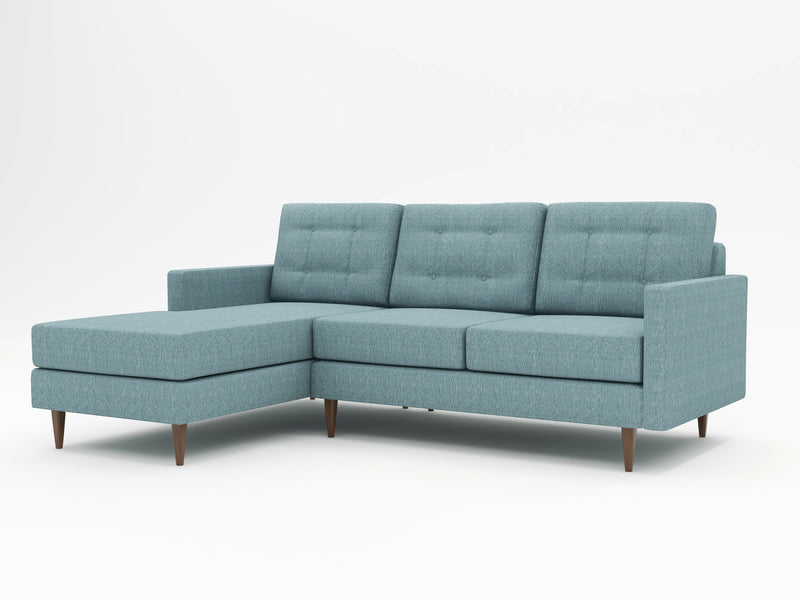 San Jose based WhatARoom's Custom Chaise Sofa in a retro style