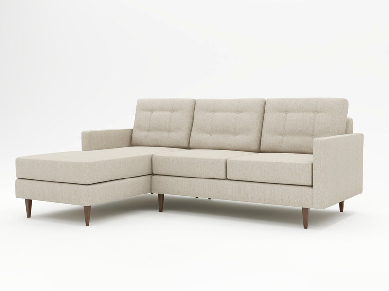 Neutral color tones on this custom chaise sofa