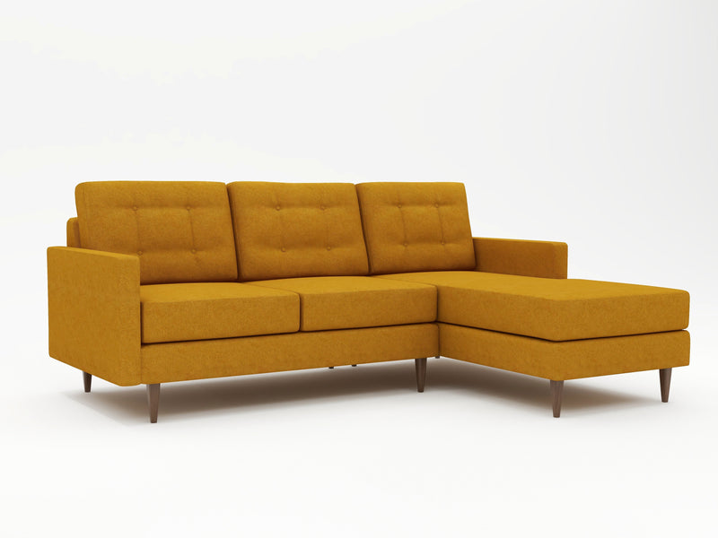 Medium sized custom chaise lounge on sofa