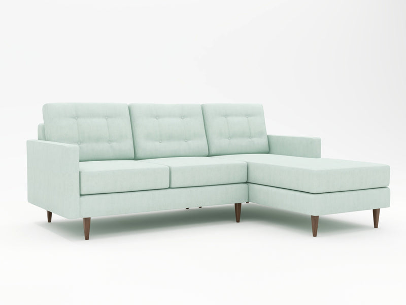 Cool breezy beach vibe from this retro styled chaise sofa