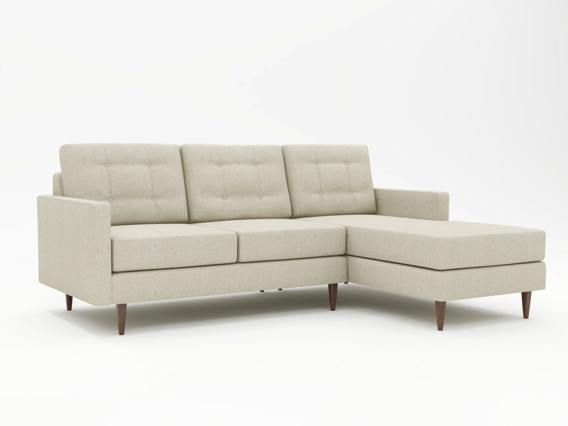 Simple design, but a sophisticated edgy look in this custom chaise sofa