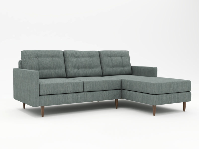 Slightly eclectic looks, but firm contemporary meets modern styling on this sofa