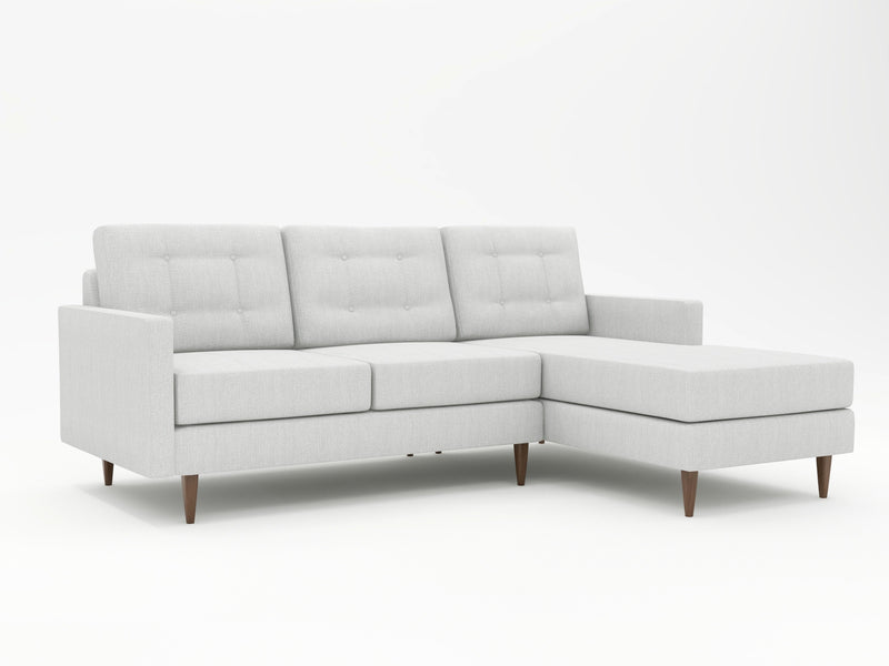 Monochromatic look for yoru contemporary needs - custom sofa with chaise in light grey hue