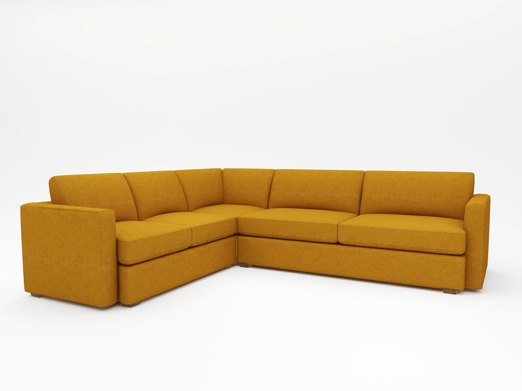 Lounge Square Arm Upholstered L Sectional