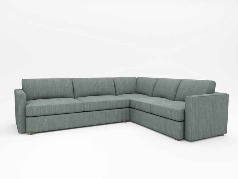 Lounge Square Arm Upholstered L Sectional - What A Room Furniture