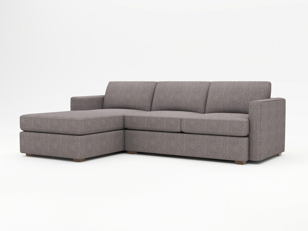 Lounge Square Arm Upholstered Sofa Chaise - What A Room Furniture