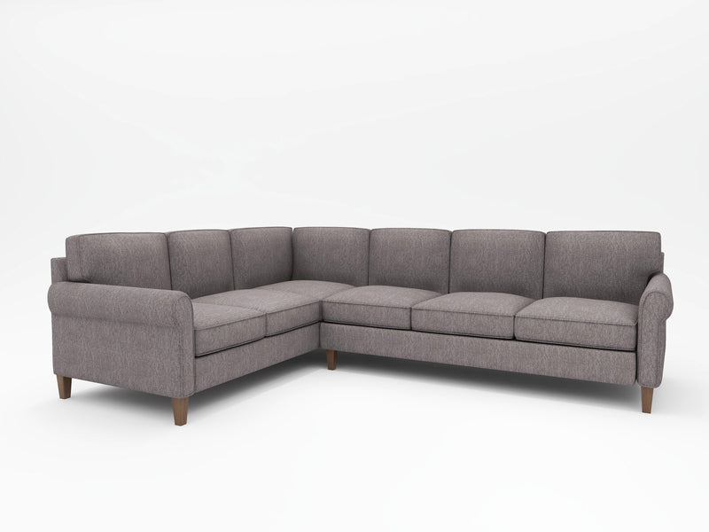 Mayfair Round Arm Upholstered L Sectional