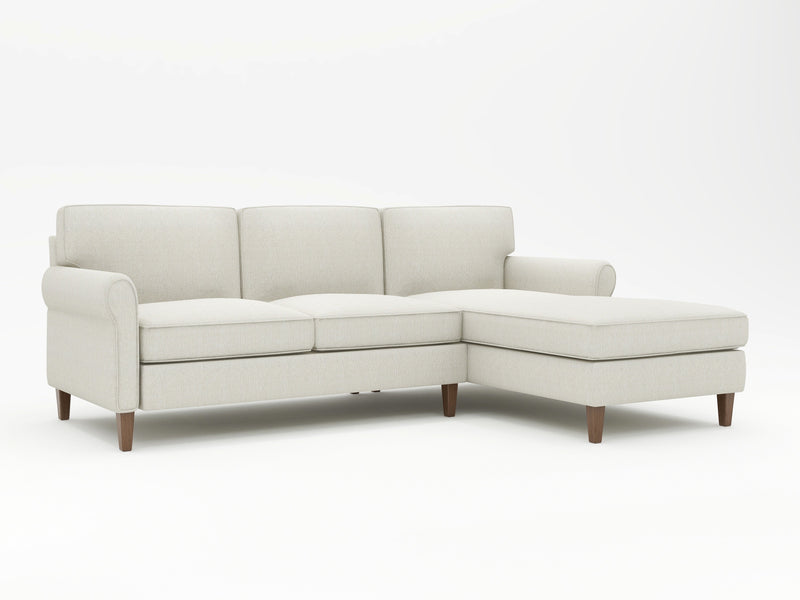 Mayfair Round Arm Upholstered Sofa Chaise