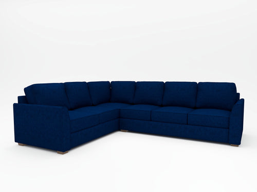 Tiffany Slope Arm Upholstered L Sectional - What A Room Furniture