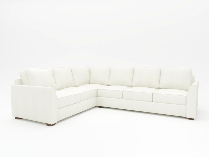 Tiffany Slope Arm Upholstered L Sectional - What A Room