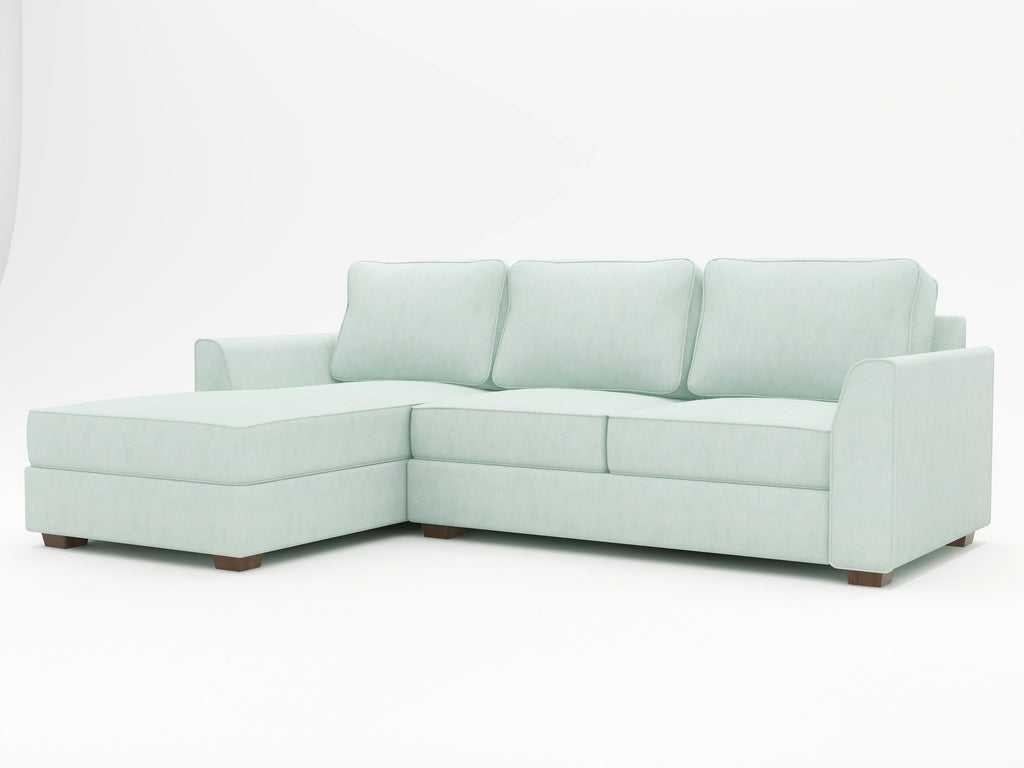 Tiffany Slope Arm Upholstered Sofa Chaise