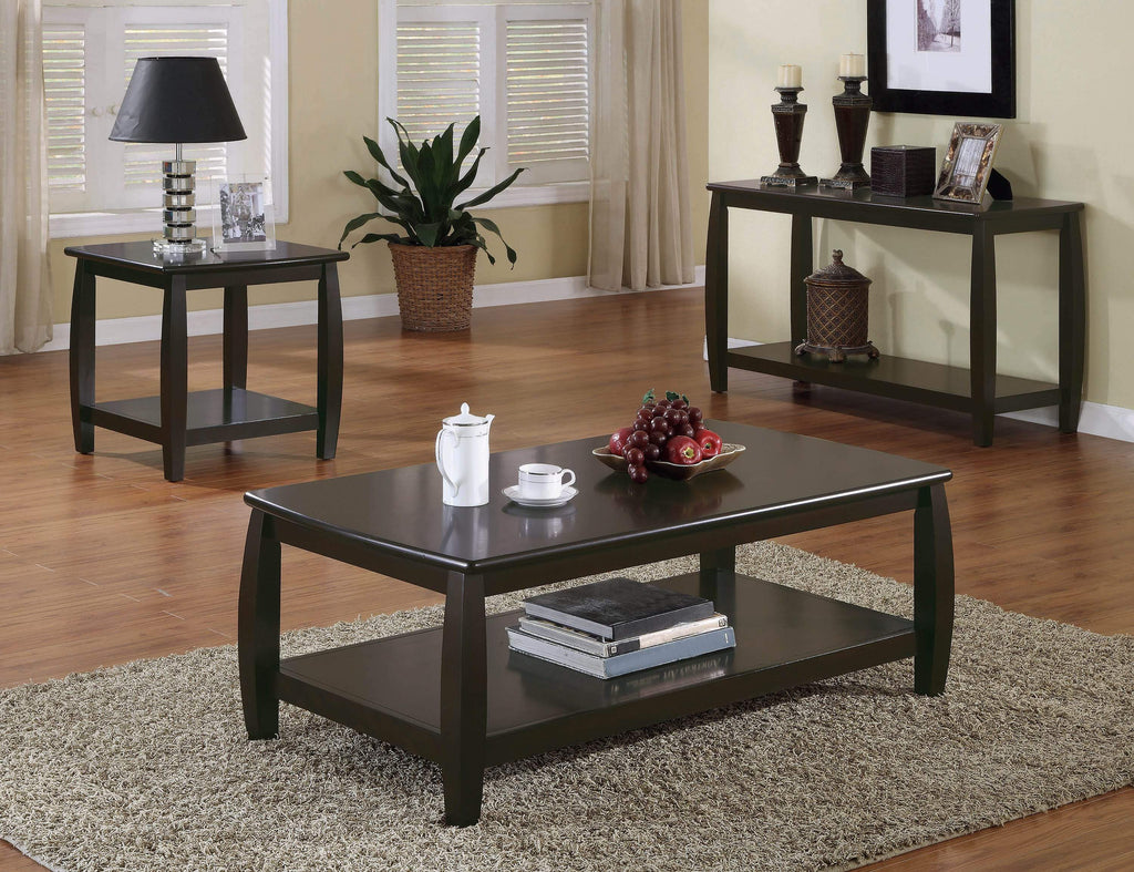 Wood Top Espresso Coffee Table - What A Room