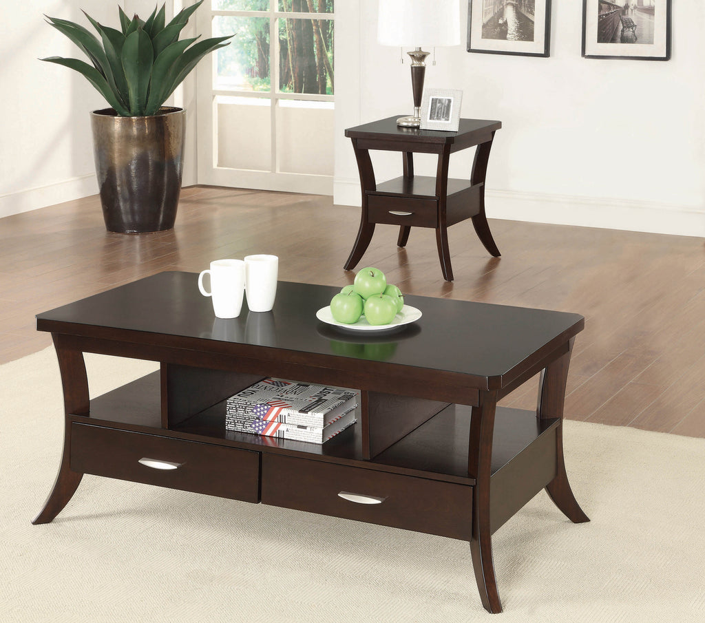 Occasional Transitional Espresso Coffee Table - What A Room Furniture