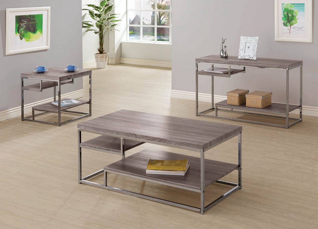 Modern Dark Grey Coffee Table - What A Room Furniture