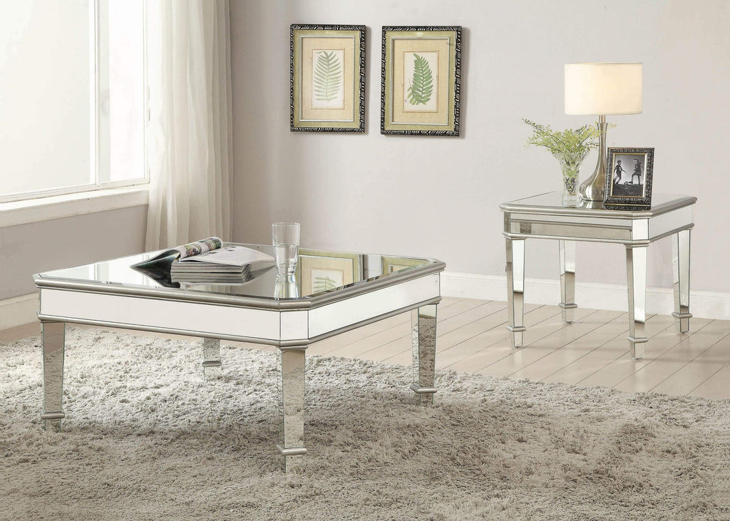 Transitional Silver Coffee Table - What A Room