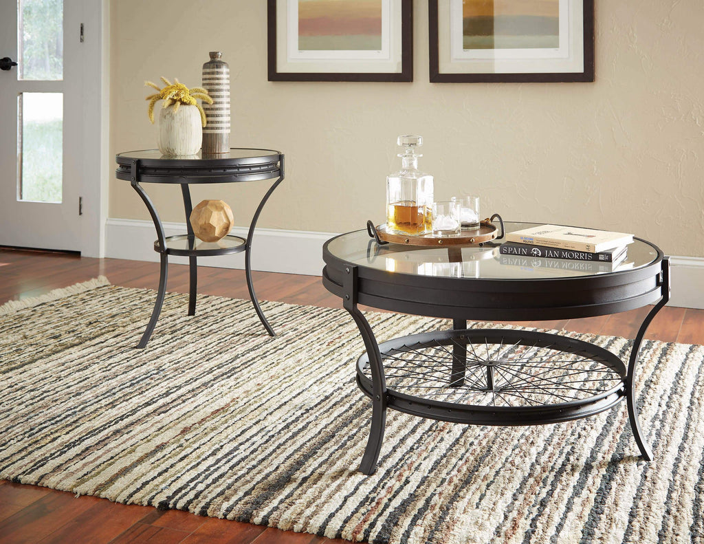 Industrial Black Coffee Table - What A Room Furniture