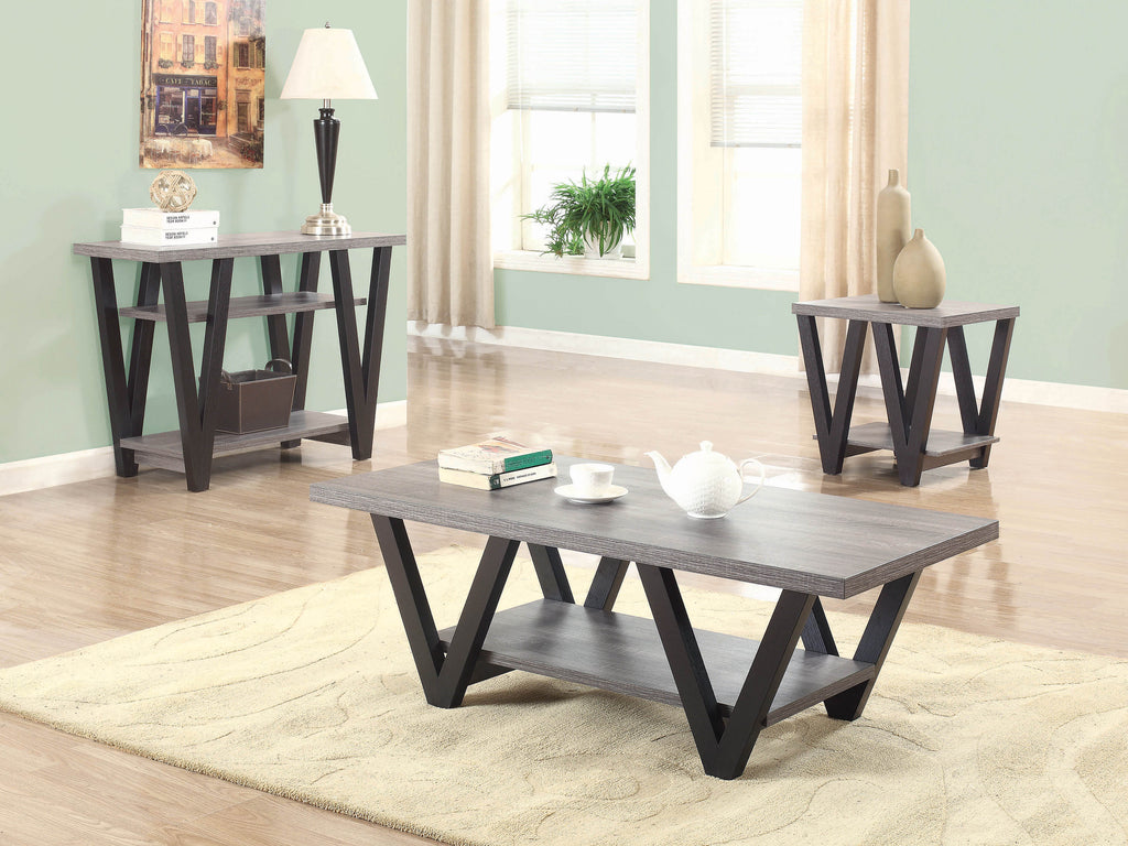 Mid-Century Modern Black Coffee Table - What A Room Furniture