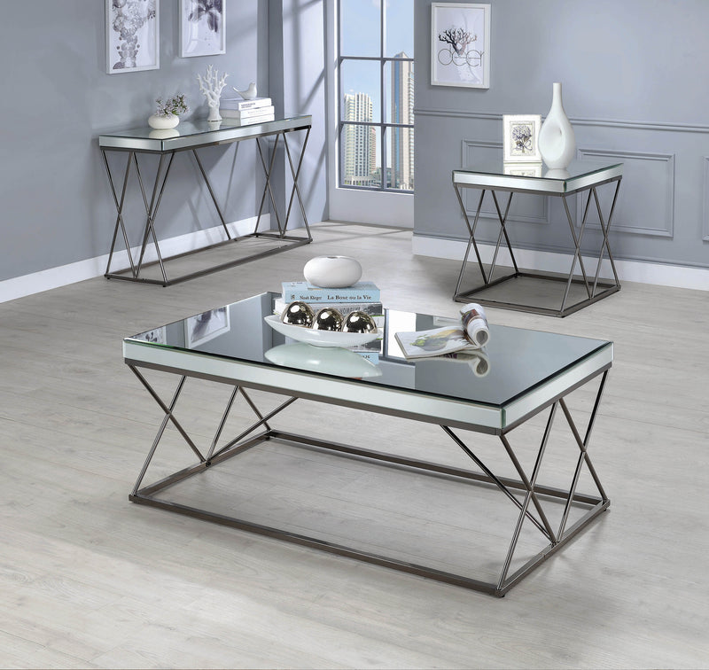 Contemporary Black Nickel Coffee Table - What A Room Furniture