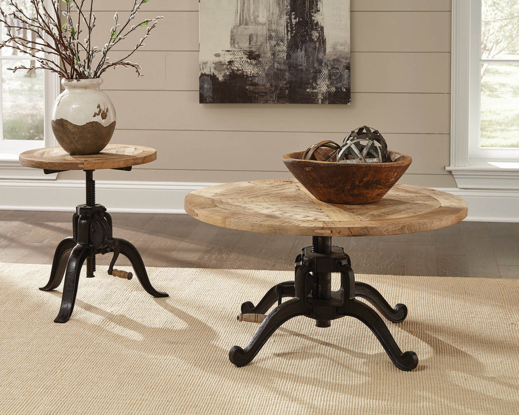 Scott Living Industrial Black Coffee Table - What A Room Furniture