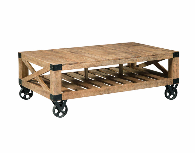 Scott Living Industrial Natural Mango Coffee Table - What A Room Furniture