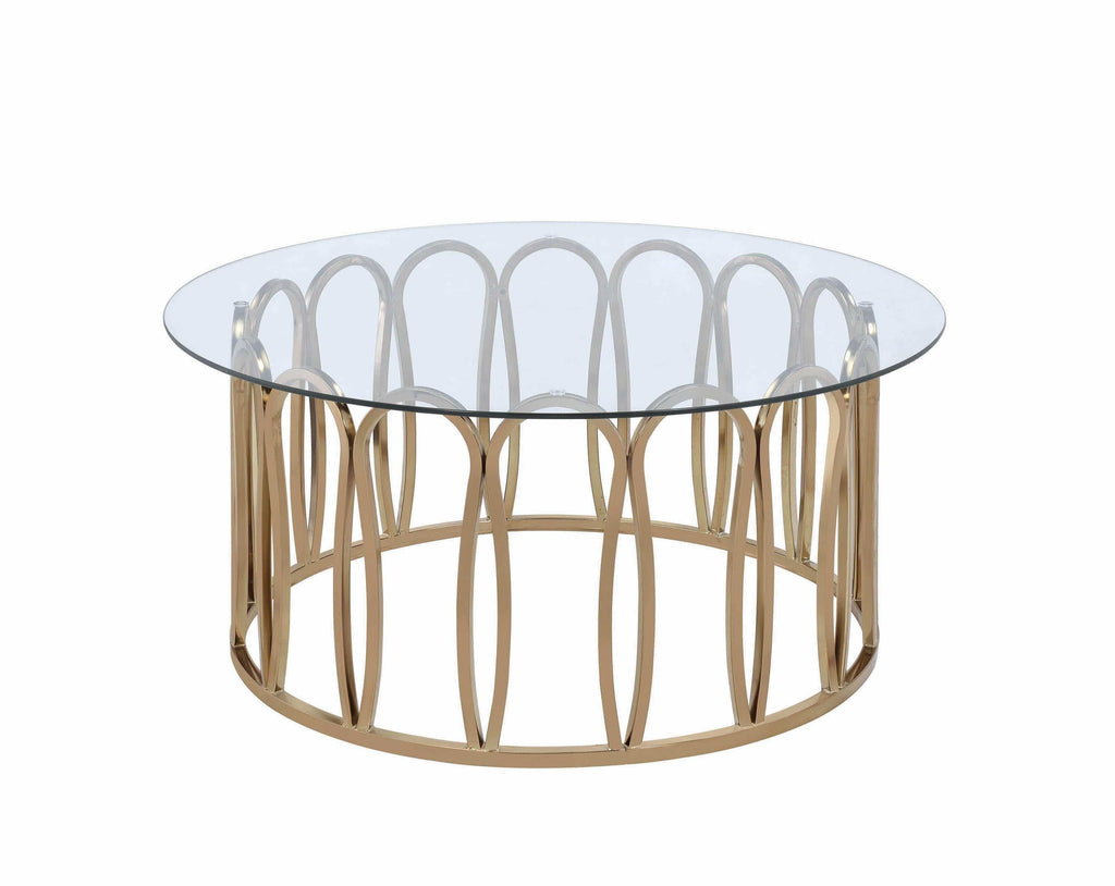 Scott Living Modern Chocolate Chrome Coffee Table - What A Room Furniture