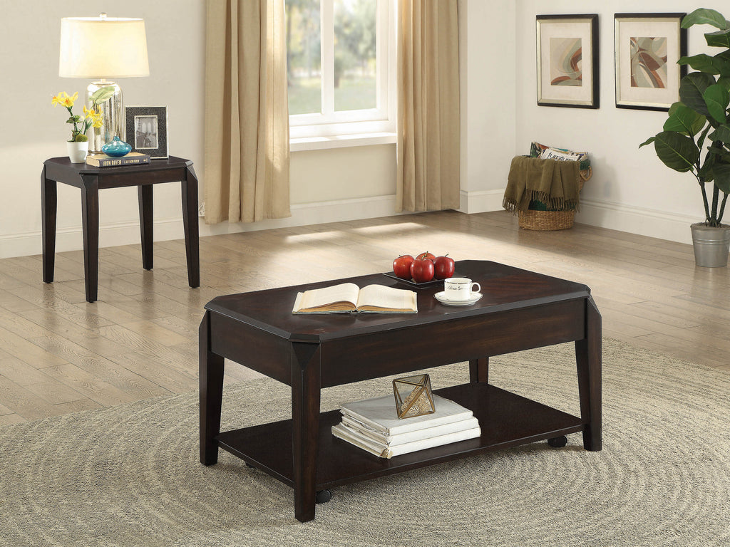 Transitional Walnut Lift-Top Coffee Table - What A Room