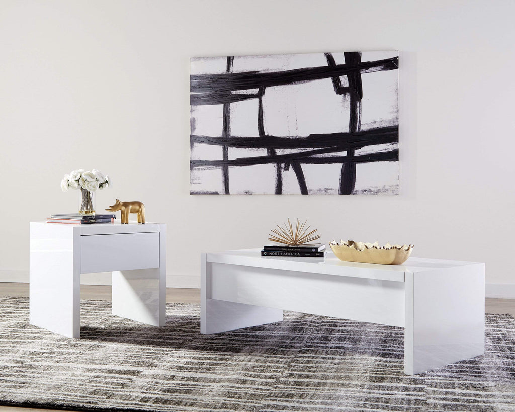 Scott Living Contemporary White Lift-Top Coffee Table - What A Room Furniture