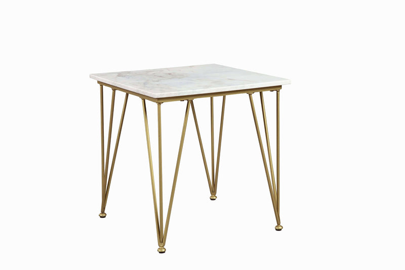Scott Living Modern White and Gold Coffee Table