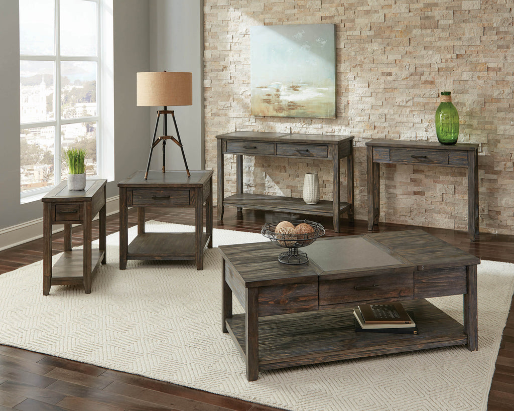 Scott Living Rustic Nutmeg Rectangular Coffee Table - What A Room