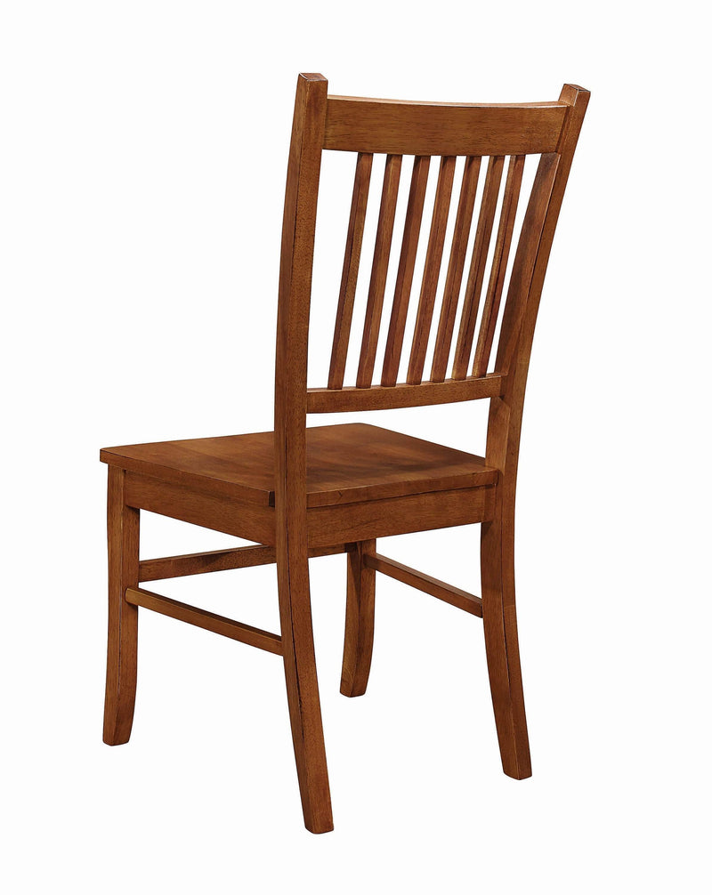 Marbrisa Mission Burnished Oak Side Chair - What A Room Furniture